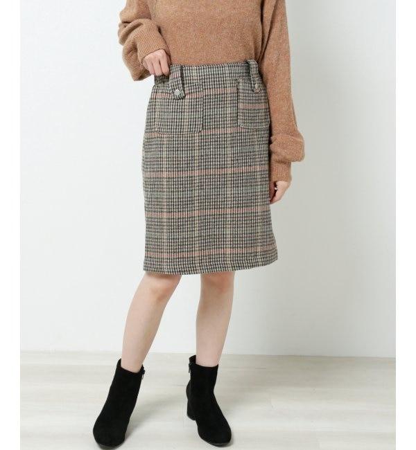 【レイカズン/RAY CASSIN】 チェック柄台形スカート