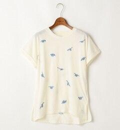 【ダブルネーム/DOUBLE NAME】 恐竜刺しゅう総柄Tシャツ [3000円(税込)以上で送料無料]