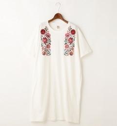 【ダブルネーム/DOUBLE NAME】 メキシカン花刺繍Tシャツワンピース [送料無料]