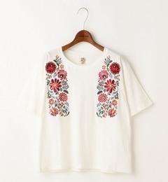 【ダブルネーム/DOUBLE NAME】 メキシカン花刺繍Tシャツ [送料無料]