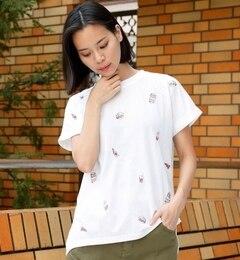 【ダブルネーム/DOUBLE NAME】 ジャンクフード刺繍Tシャツ [3000円(税込)以上で送料無料]
