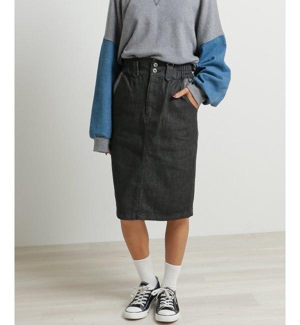 【ダブルネーム/DOUBLE NAME】 デニム裏使いスカート