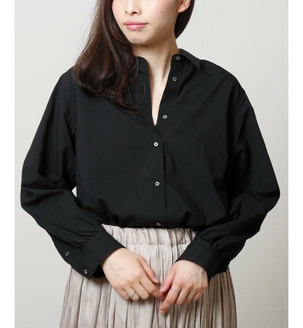 【ミューカ/MJUKA.】 80/1綿レーヨンタイプライタートリプルウォッシュロングシャツ