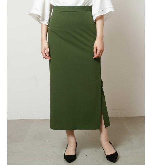 【ミューカ/MJUKA.】 2WAYギャバタイトミディスカート