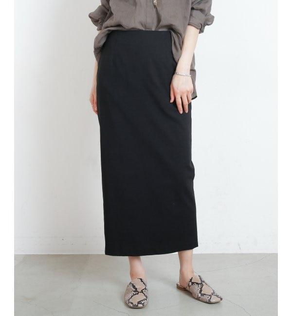 【ミューカ/MJUKA.】 88cm丈ストレッチナロースカート