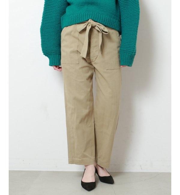 【ミューカ/MJUKA.】 リボン付ベイカーパンツ