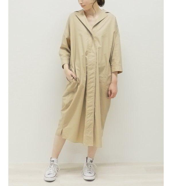 【ミューカ/MJUKA.】 オープンカラーシャツワンピース