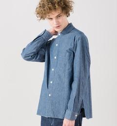 【ビショップ/Bshop】【ORCIVAL】長袖丸襟シャンブレーシャツ[送料無料]