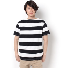 【ビショップ/Bshop】 【ORCIVAL】半袖ボートネックTシャツ(6.5cmボーダー) MEN [送料無料]