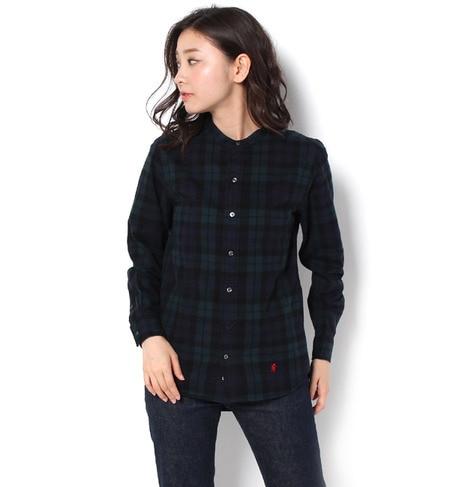 【ビショップ/Bshop】 【GYMPHLEX】バンドカラーシャツ ビエラチェック [送料無料]