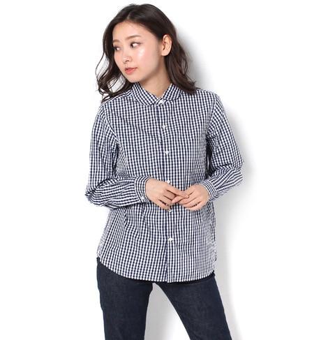【ビショップ/Bshop】 【LE GLAZIK】長袖丸襟シャツ ギンガムチェック [送料無料]