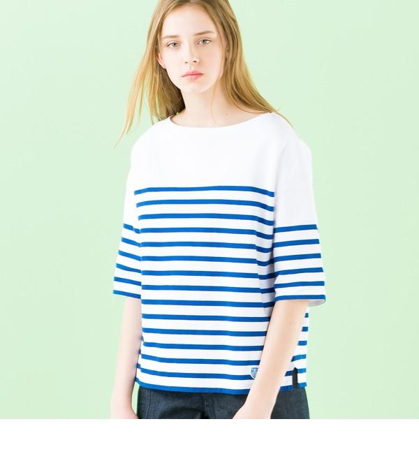 【ビショップ/Bshop】 【ORCIVAL】ラッセル フレンチセーラーハーフスリーブTシャツ [送料無料]