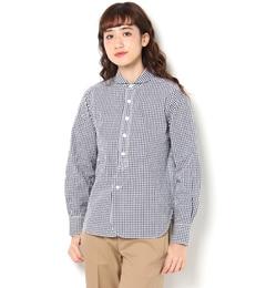 【ビショップ/Bshop】 【HAVERSACK】長袖丸襟シャツ シアサッカーギンガム WOMEN [送料無料]