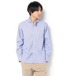 【ビショップ/Bshop】 【HAVERSACK】丸襟長袖シャツ へアライン MEN [送料無料]