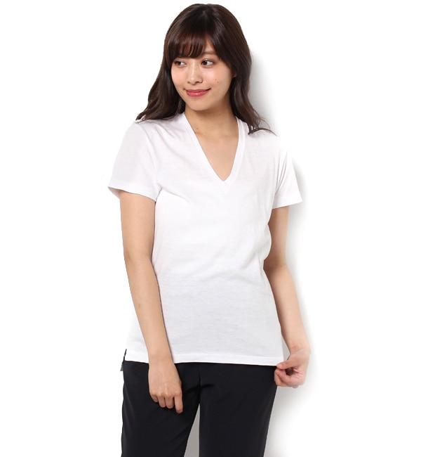 【ビショップ/Bshop】 【AURALEE】VネックTシャツ WOMEN