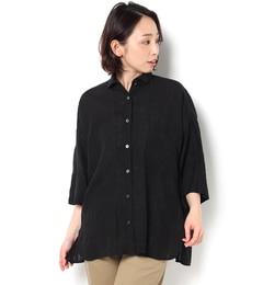【ビショップ/Bshop】 【TICCA】半袖ダブルカフスシャツ リネン WOMEN [送料無料]