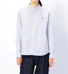 【ビショップ/Bshop】 【DANTON】長袖バンドカラーストライプシャツ WOMEN [送料無料]