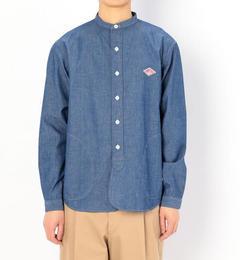 【ビショップ/Bshop】 【DANTON】長袖バンドカラーシャツ COC MEN [送料無料]
