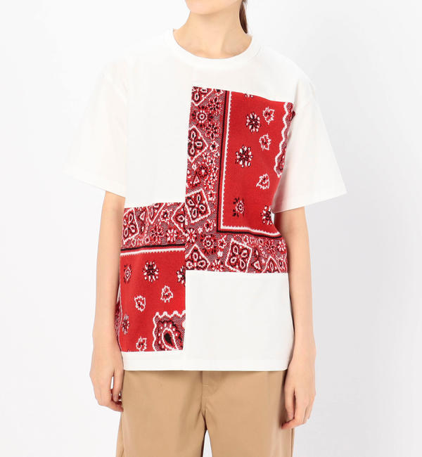 【ビショップ/Bshop】 【COOHEM】バンダナ ジャガードTシャツ RED WOMEN [送料無料]