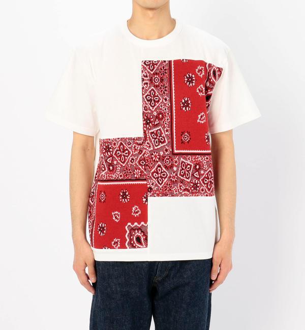 【ビショップ/Bshop】 【COOHEM】バンダナ ジャガードTシャツ RED MEN [送料無料]