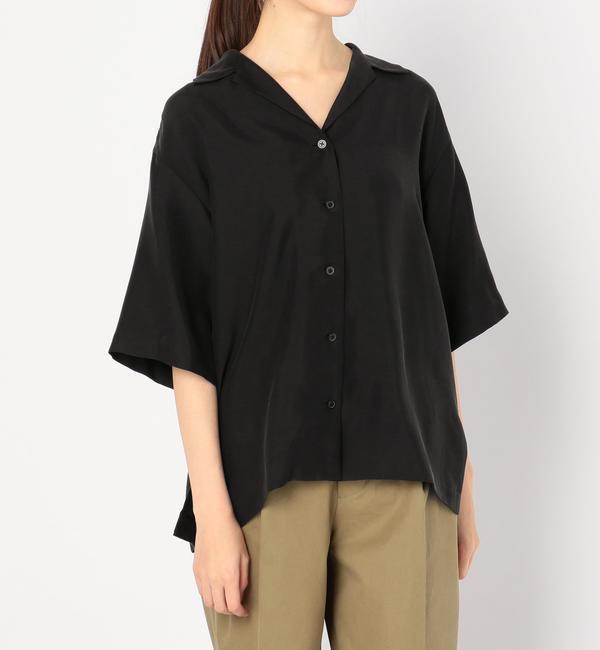 【ビショップ/Bshop】 【AURALEE】シルク オープンカラーシャツ WOMEN [送料無料]