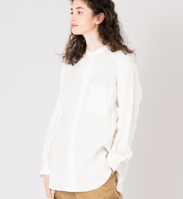 【ビショップ/Bshop】 【AURALEE】リネン バンドカラーシャツ WOMEN [送料無料]