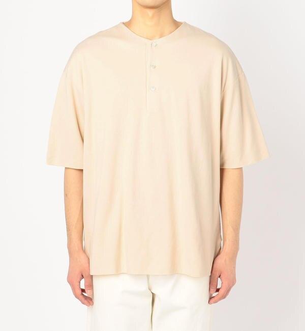 【ビショップ/Bshop】 【AURALEE】ダブルクロス ヘンリーネックTシャツ MEN [送料無料]