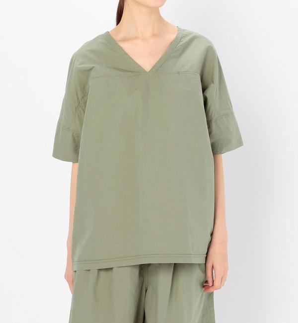 【ビショップ/Bshop】 【BASISBROEK】コットンシルク Vネックプルオーバーシャツ WOMEN [送料無料]