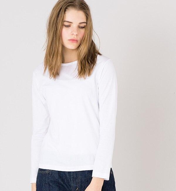 【handvaerk】 クルーネックTシャツ WOMEN/ (Bshop) (レディース) ビショップ