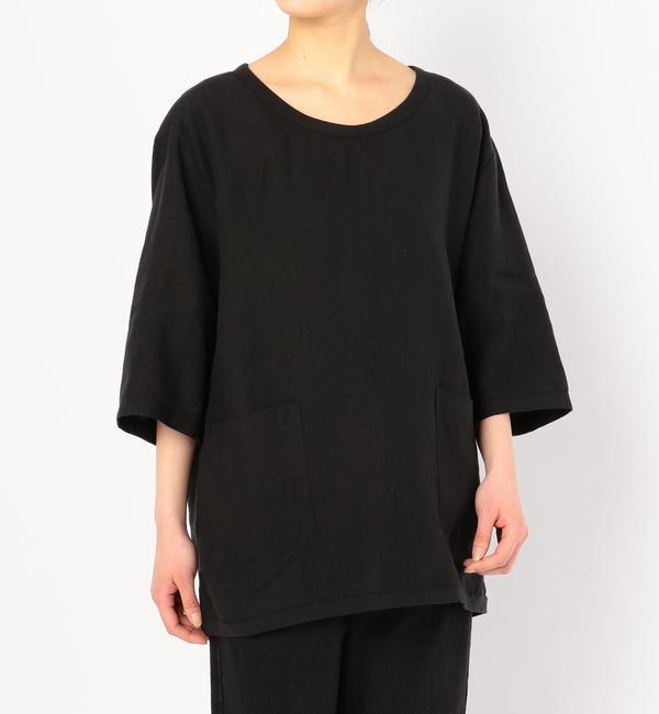 【ビショップ/Bshop】 【CINI】リネンTシャツ BLK / WOMEN [送料無料]