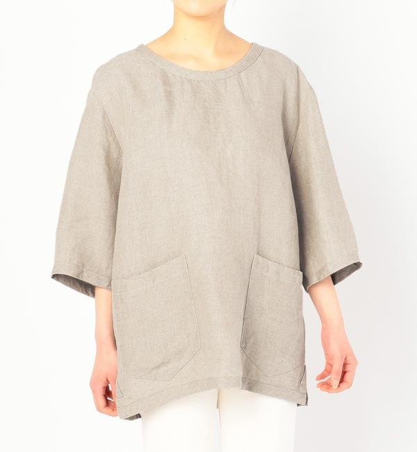【ビショップ/Bshop】 【CINI】リネンTシャツ NAT / WOMEN [送料無料]
