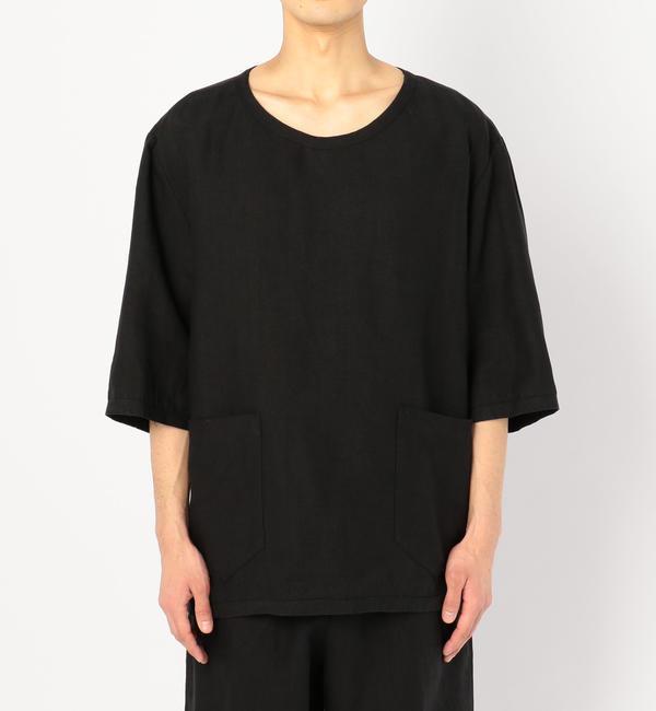 【ビショップ/Bshop】 【CINI】リネンTシャツ BLK / MEN [送料無料]