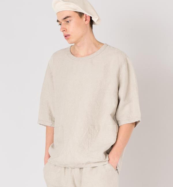 【ビショップ/Bshop】 【CINI】リネンTシャツ NAT / MEN [送料無料]