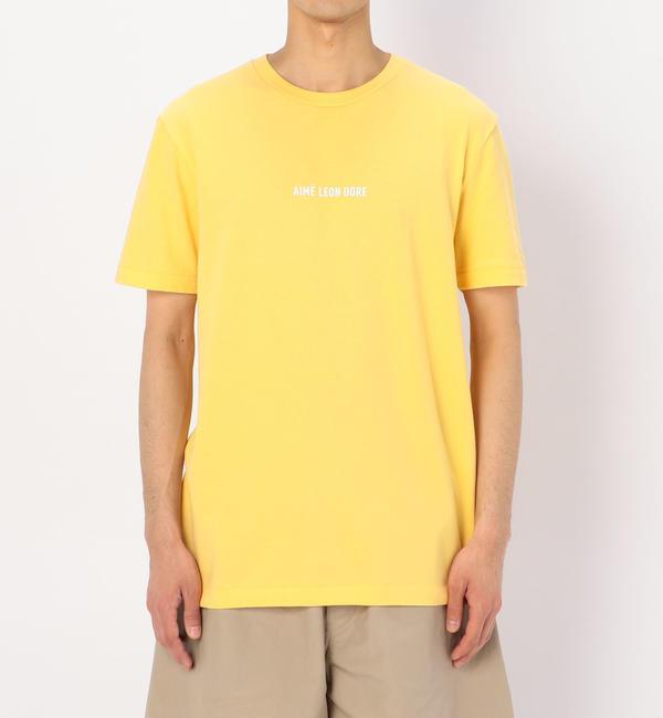 【ビショップ/Bshop】 【AIME LEON DORE】ロゴTシャツ YEL / MEN [送料無料]