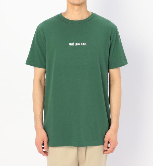 【ビショップ/Bshop】 【AIME LEON DORE】ロゴTシャツ GRN / MEN [送料無料]