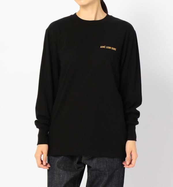 【ビショップ/Bshop】 【AIME LEON DORE】ロゴTシャツ BLK WOMEN