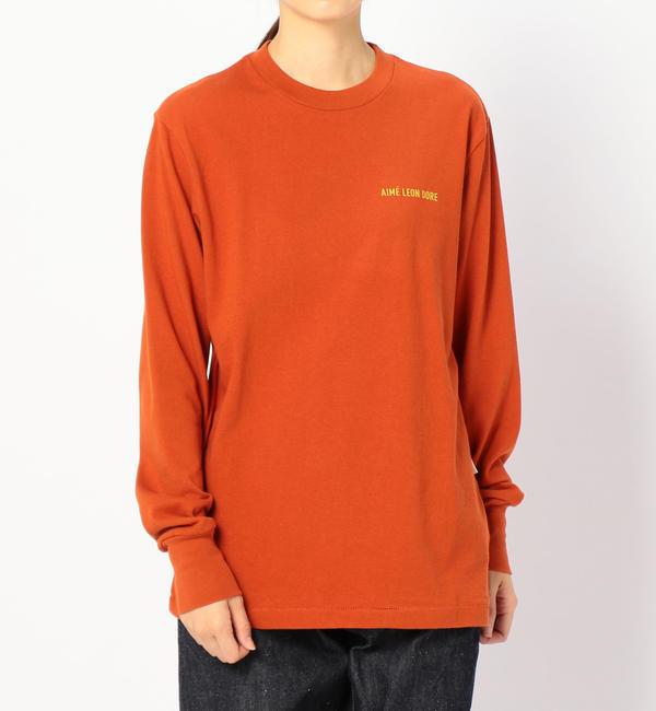 【ビショップ/Bshop】 【AIME LEON DORE】ロゴTシャツ RUST WOMEN