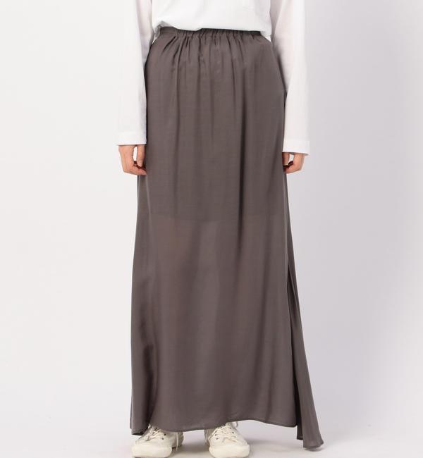 【ビショップ/Bshop】 【ATON】サイドドレープスカート WOMEN