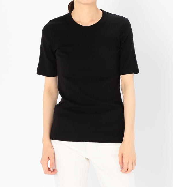 【ビショップ/Bshop】 【ATON】ワイドリブクルーネックTシャツ WOMEN