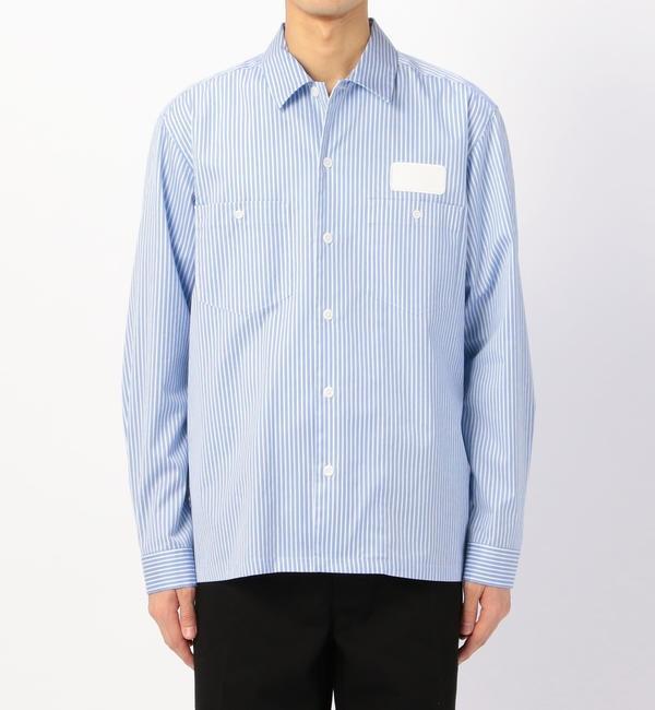 【ビショップ/Bshop】 【078 CITE】ストライプ 長袖ワークシャツ MEN