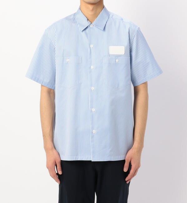 【ビショップ/Bshop】 【078 CITE】ストライプ 半袖ワークシャツ MEN