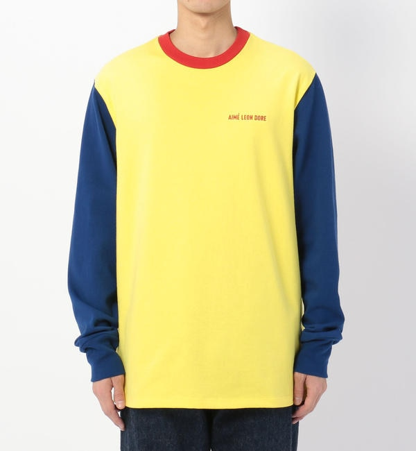 【ビショップ/Bshop】 【AIME LEON DORE】長袖カラーブロックTシャツ MEN