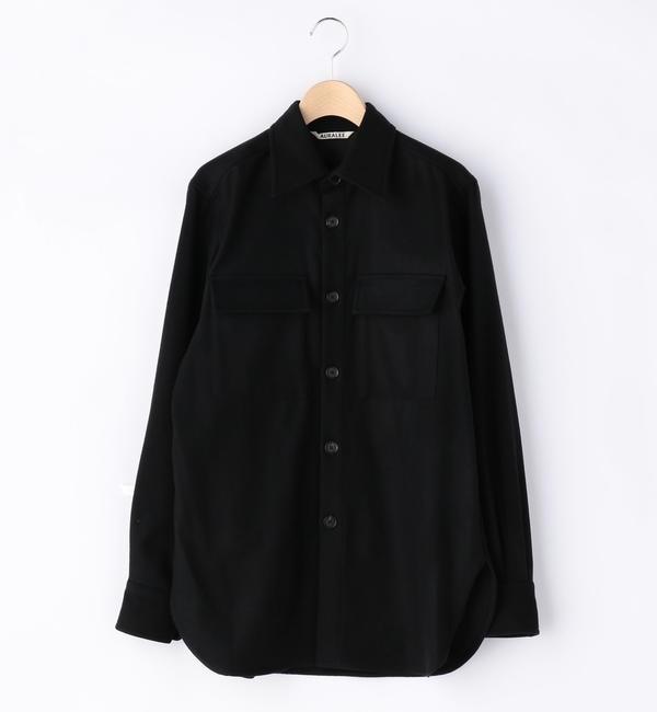 【ビショップ/Bshop】 【AURALEE】フランネルCPOシャツ WOMEN