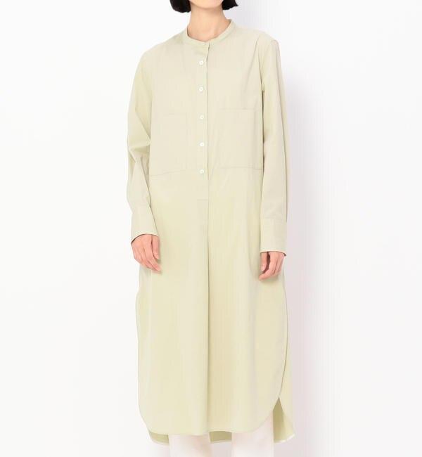 【ビショップ/Bshop】 【TICCA】ノーカラー シャツドレス WOMEN