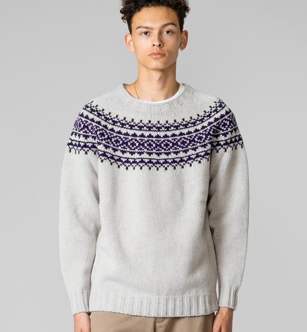 【ビショップ/Bshop】 【MORRIS & SONS】ジーロンラム ノルディックセーター MEN