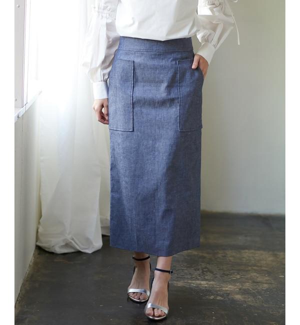 【コラージュ ガリャルダガランテ/COLLAGE GALLARDAGALANTE】 【EMMALIA】バックレースタイトスカート