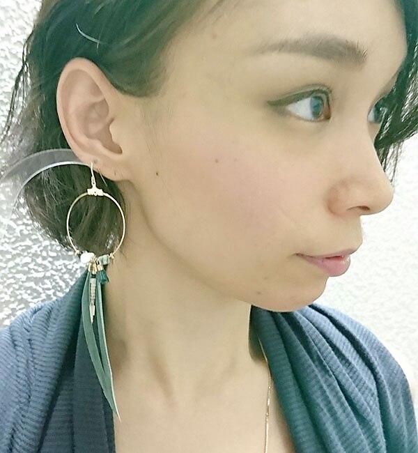 【イアパピヨネ/ear PAPILLONNER】 フープフェザーピアス [送料無料]