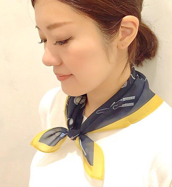 【イアパピヨネ/ear PAPILLONNER】 アクセサリー柄スカーフ [送料無料]