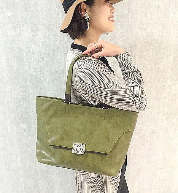 【イアパピヨネ/ear PAPILLONNER】 トライバルパーツトートバッグ [送料無料]
