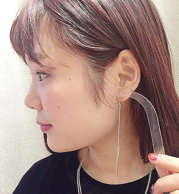 【イアパピヨネ/ear PAPILLONNER】 振り子ピアス [3000円(税込)以上で送料無料]